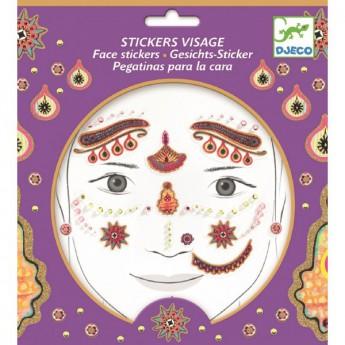 Pro holky - Samolepky na obličej indická princezna