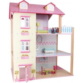 Domeček pro panenky růžová vila
