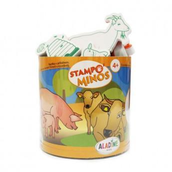 Výtvarné a kreativní hračky - Dětská razítka velká Zvířátka na statku