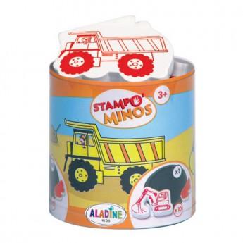Výtvarné a kreativní hračky - Dětská razítka velká Na stavbě
