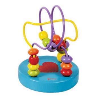 Motorické a didaktické hračky - Labyrint - Korálky (modrý)