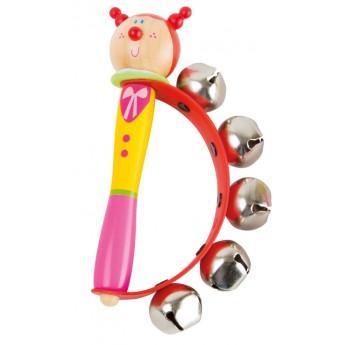 Dětské hudební nástroje - Rolničky do ruky - Holčička s copánky