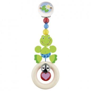 Pro nejmenší - Závěsná dřevěná hračka Žabička
