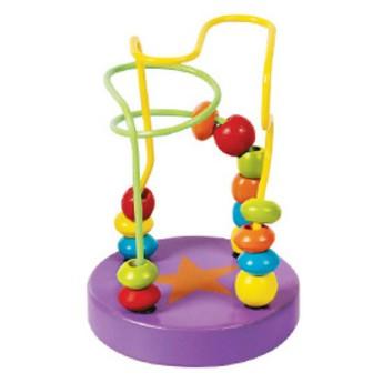 Motorické a didaktické hračky - Labyrint - Korálky (fialový)