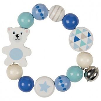 Pro nejmenší - Dřevěné chrastítko Lední medvěd