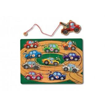 Motorické a didaktické hračky - Magnetický rybolov - Autíčka