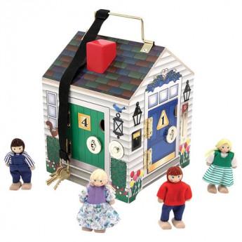 Motorické a didaktické hračky - Domek se zvonky a panenkami