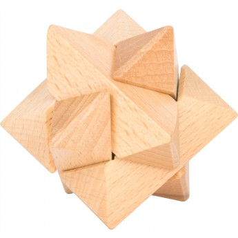 Dřevěný hlavolam - hvězda