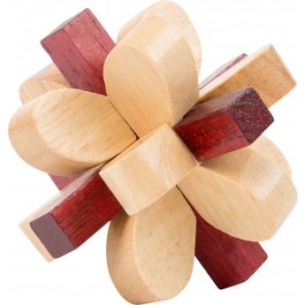 Dřevěný hlavolam - květina