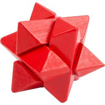 Hry a hlavolamy - Dřevěný hlavolam barevný - hvězda