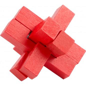 Dřevěný hlavolam barevný - kříž