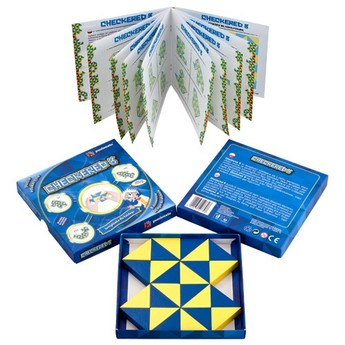 Dřevěné puzzle - série Checkered 8