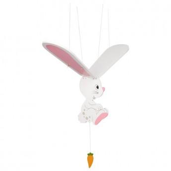 Létající závěsná dekorace Bílý zajíček