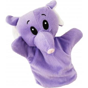 Maňásek na ruku Slon, fialový