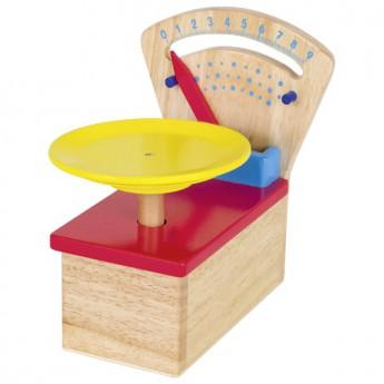 Dřevěná kuchyňská váha barevná