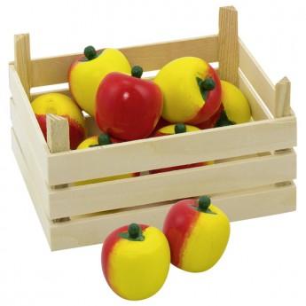 Jablka v dřevěné přepravce, 10 ks