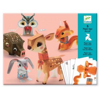 Origami skládačka Lesní zvířátka
