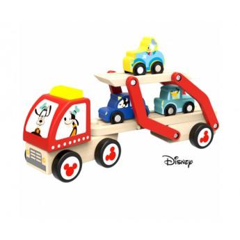 Disney Dřevěný Goofyho tahač s autíčky