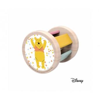 Disney Dřevěný dětský váleček postava Medvídek Pú