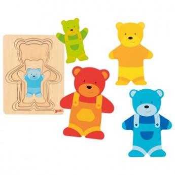 Vícevrstvé puzzle – Medvídek v kalhotách, 5 dílů