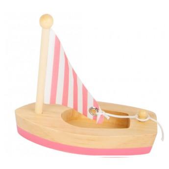 Small Foot Vodní hračka plachetnice - růžová