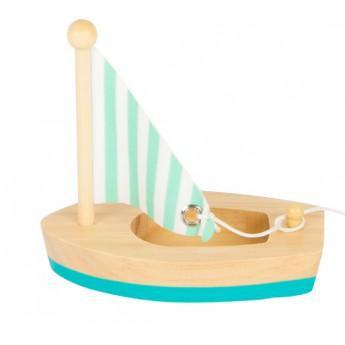 Small Foot Vodní hračka plachetnice - modrá