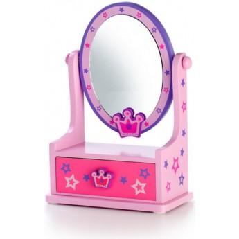 Zrcadlo šperkovnice zásuvka - barevná korunka