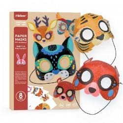 Mideer Papírové party masky Zvířátka