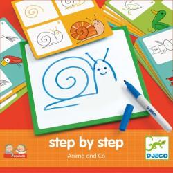 Djeco Krok za krokem - zvířátka