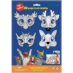 3D papírová maska sova, jelen, zajíc, superhrdina