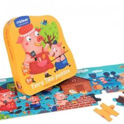 Tři prasátka puzzle 36 dílků