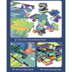Doba dinosaurů podlahové puzzle 104 dílků
