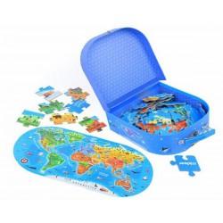 Náš svět podlahové puzzle 100 dílků
