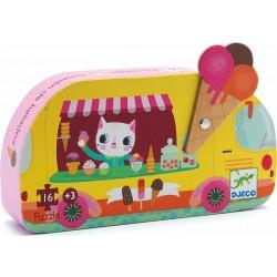 Djeco Puzzle v krabičce Zmrzlina jede!