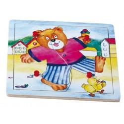 Puzzle medvěd Benny jde spát