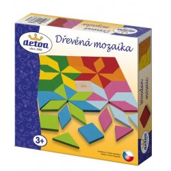 Detoa mozaika barevná dřevěná 49 ks