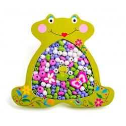 Woody Navlékací korálky - Žabka