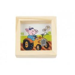 Kuličky na trpělivost - Prase v traktoru