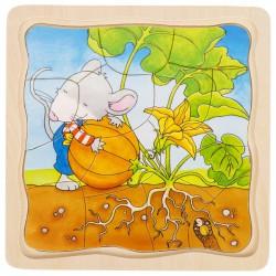 Vícevrstvé puzzle - Jak roste dýně