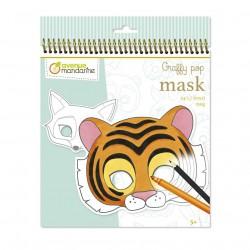 Karnevalové masky k vymalování Zvířátka