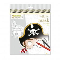 Karnevalové masky k vymalování pro kluky