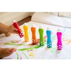 Djeco Prstové barvy s aplikátorem