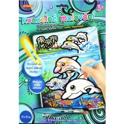 Kouzelné malování vodou - Delfíni