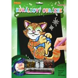 Korálkový obrázek - Kočička