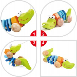 Tahací dřevěný krokodýl