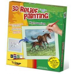 3D reliéfní obrázek Hannoverský kůň s hříbětem
