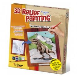 3D reliéfní obrázek Tyrannosaurus
