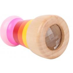 Dřevěný kalejdoskop, růžový