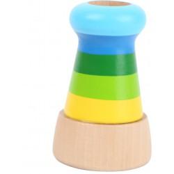 Dřevěný kalejdoskop, zelený