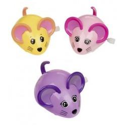 Hračky na natažení – Myšky - růžová, fialová, žlutá